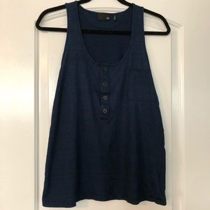 AG Adriano Goldschmied Button Pocket Tank